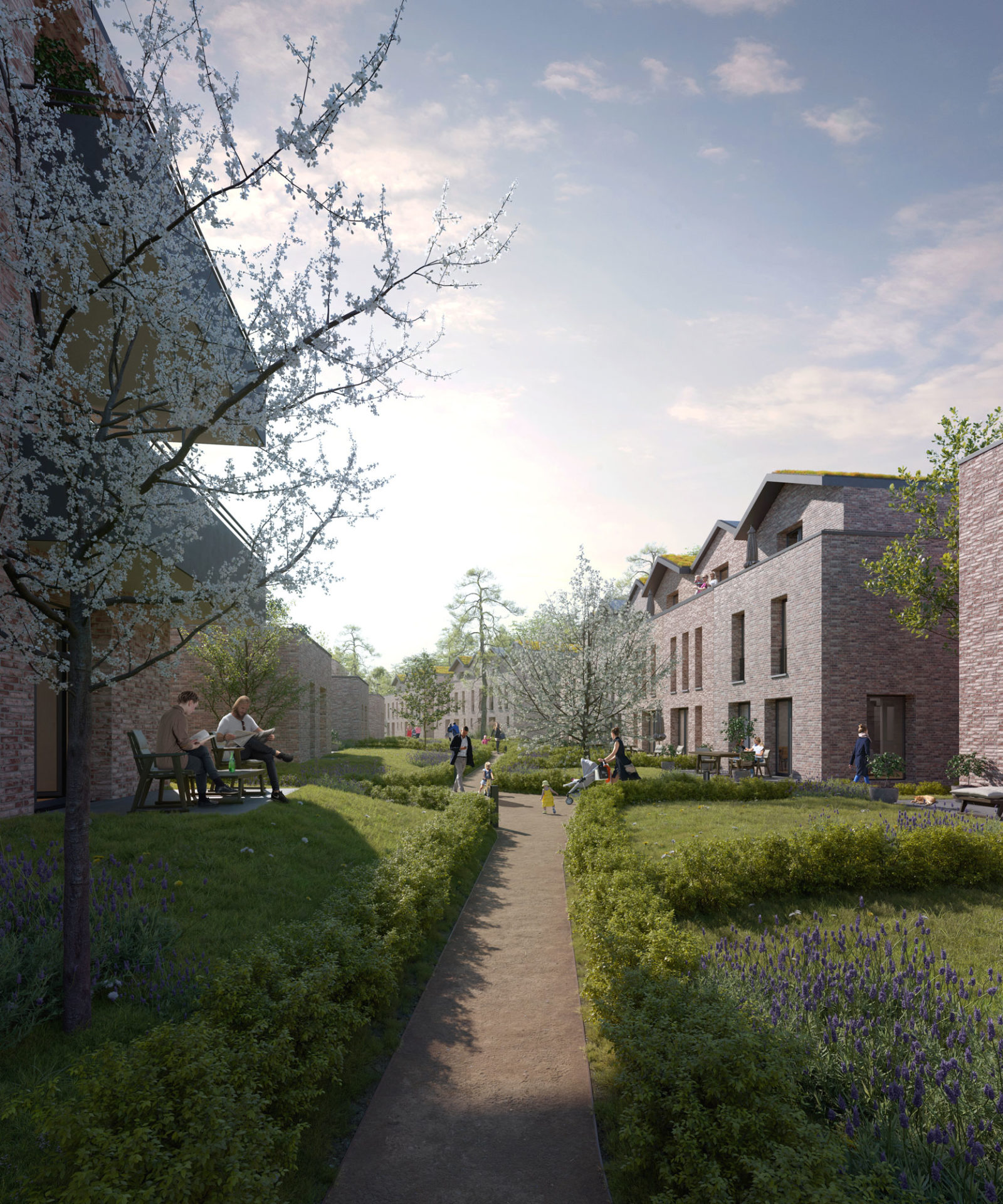 Townhouses in Hamburg by ZUH Visuals