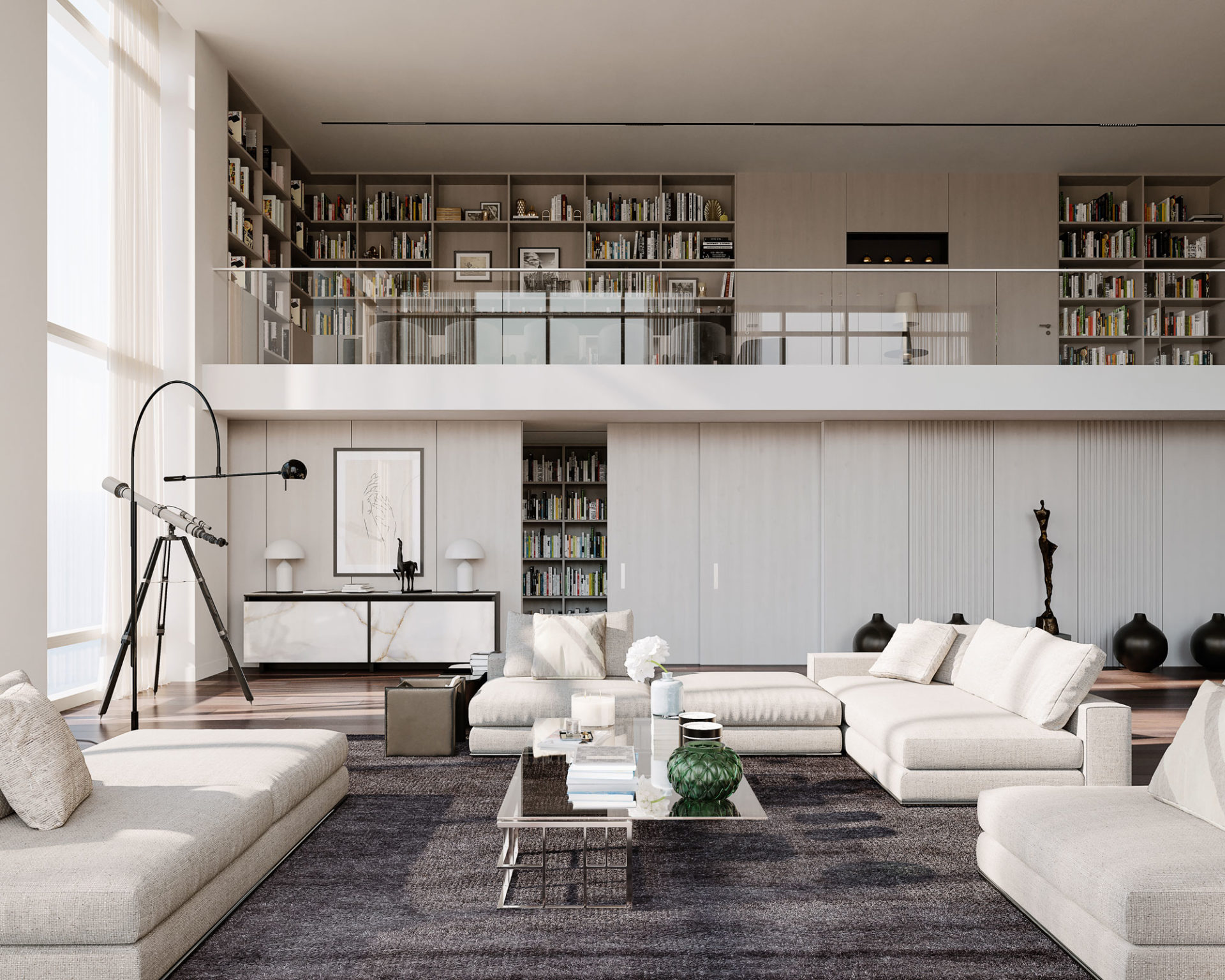 Penthouse by ZUH Visuals - Living room