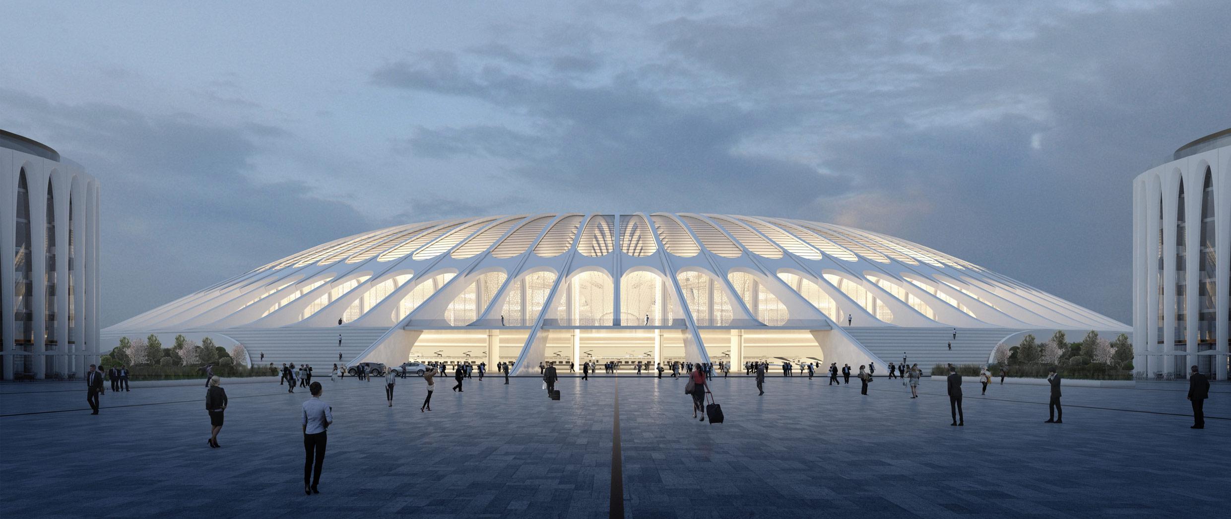 Xi'an Train Station Competition Image by Daniel Szalapski